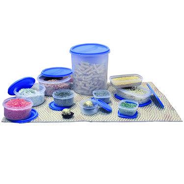 Princeware 10 Pcs Store Fresh Container Set-Blue