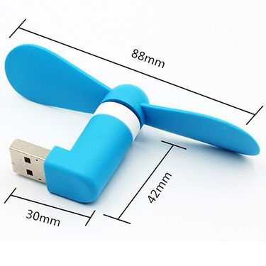 Shutterbugs Mini Micro USB 2 in1 Portable Fan For SmartPhone, Powerbank, Laptop & PC (Assorted)