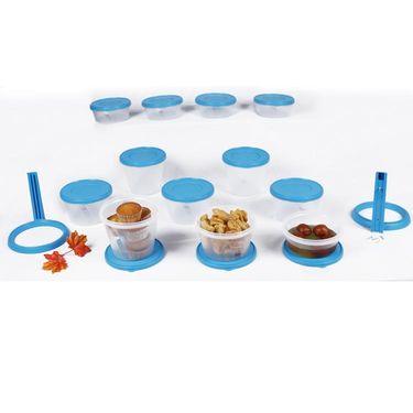 Kitchen Duniya Nesterware Food Storage Container 34 Peices-Aqua Blue