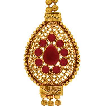Spargz Brass Metal Necklace Set_Ains093