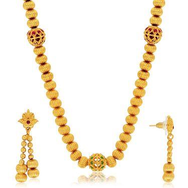 Spargz Brass Metal Necklace Set_Ains104