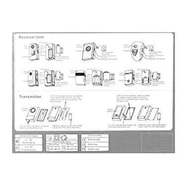 ZINGALALAA V001A 120M Range AC Wireless Doorbell