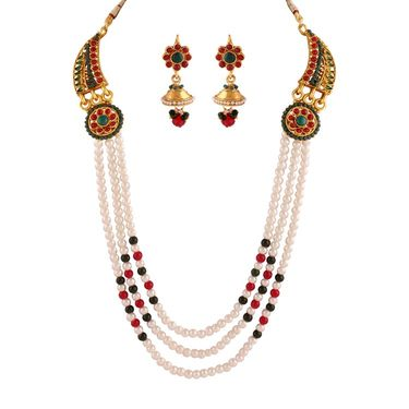 Variation Combo of 7 Gold Plated Necklace Set + 4 Pendant Set + 1 Gm Gold Plated Anklet_Varinp12