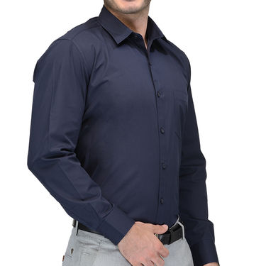 Being Fab Cotton Formal Shirt_Bfs08 - Navy Blue