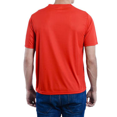 Pack of 2 Oh Fish Plain Round Neck Tshirts_Df2redblk - Red & Black