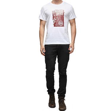 Effit Half Sleeves Round Neck Tshirt_Etscrn021 - White
