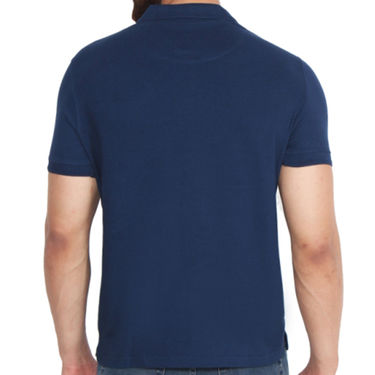 Branded Cotton Casual Tshirt_Arrow04 - Navy Blue