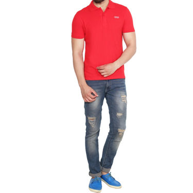 Branded Cotton Casual Tshirt_Arrow06 - Red