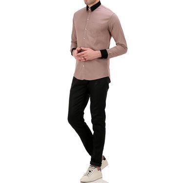 Plain Cotton Shirt_Gkchocobro - Brown