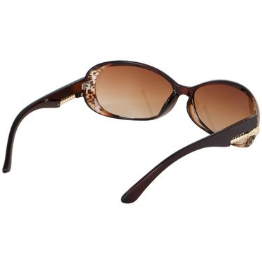 Alee Oval Plastic Women Sunglasses_Rs0223 - Brown