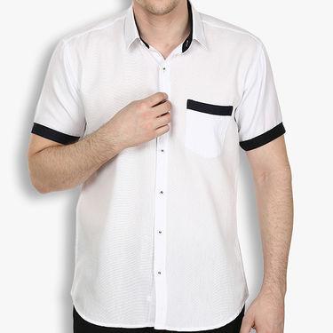 Pack of 2 Stylox Cotton Shirts_3334 - White & Black