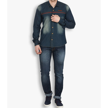 Stylox Cotton Shirt_dbdenm213 - Dark Blue
