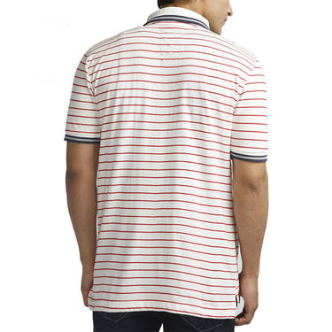 Branded Cotton Slim Fit Tshirt_Fmb01 - Blue & White