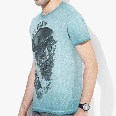 Branded Cotton Slim Fit Tshirt_Edlb02 - Light Blue