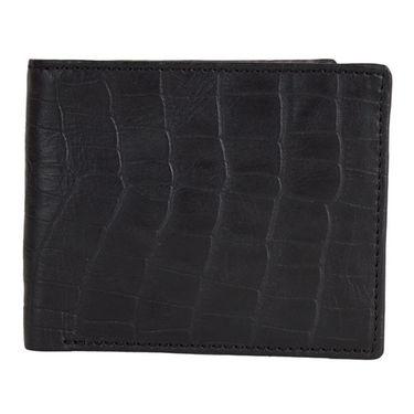 Spire Stylish Leather Wallet For Men_Smw109 - Black