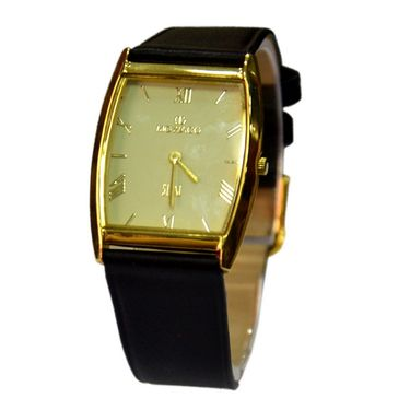 Branded Square Dial Analog Wrist Watch For Men_2305sml04 - Light Yellow