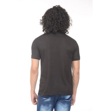 Plain Comfort Fit Blended Cotton TShirt_Ptgdbk - Black
