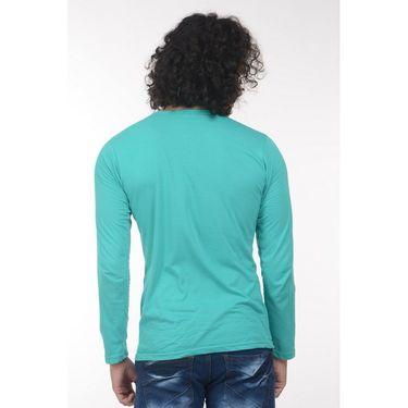 Plain Comfort Fit Blended Cotton TShirt_Htvrlg - Light Green