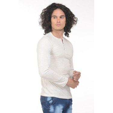 Plain Comfort Fit Blended Cotton TShirt_Htvrofw - Off White