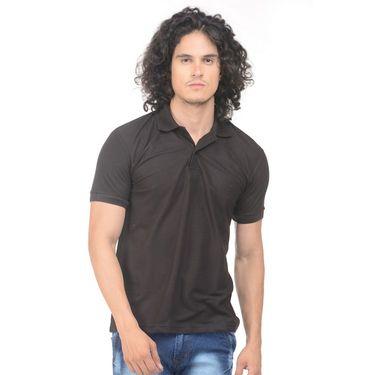 Pack of 2 Plain Regular Fit Tshirts_Ptgdbkp - Black & Pink
