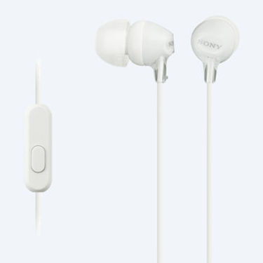 Sony MDR-EX15LP In-Ear Headphones (White)
