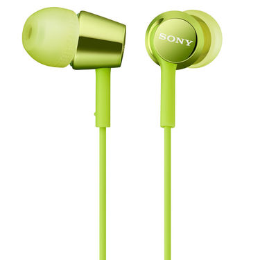 Sony MDR-EX150 In-Ear Earphones Without Mic (Green)