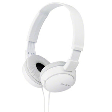 Sony MDR-ZX110A On-Ear Street Style Headphones Without Mic (White)