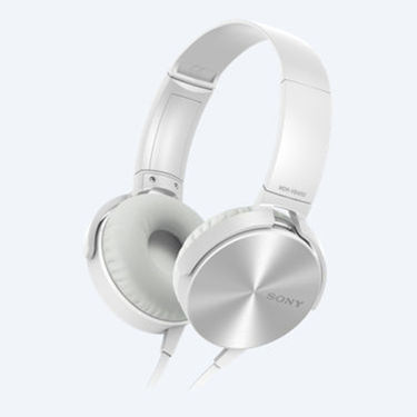 Sony MDR-XB450 On Ear Extra Bass(XB) Headphones (White)
