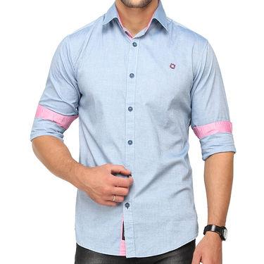Crosscreek 100% Cotton Shirt For Men_1080312f - Blue