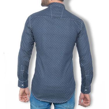 Branded Denim Cotton Shirt_Gkdss13 - Blue