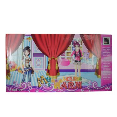 Beautiful Fasihonable Style Doll with Accessories Warm House Set-4