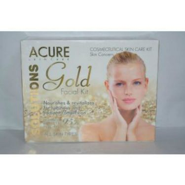 Gold Facial Kit 5pcs with 9pcs Cosmetic Kit
