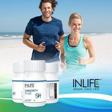 INLIFE Immunity Plus Supplement (60 Vegetarian Capsules)