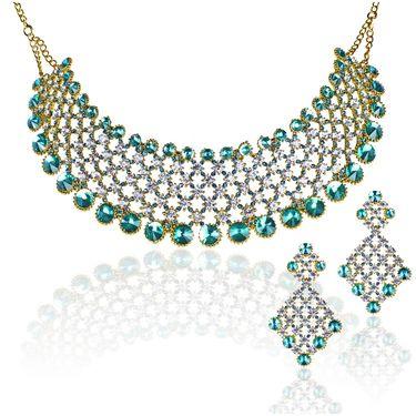 Kriaa Alloy Ethnic Necklace Set_2000102 - Green