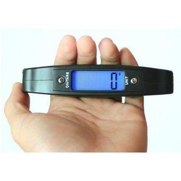Portable 50 Kg Handgripped Electronic Zingalala Luggage Weighing Scale Black