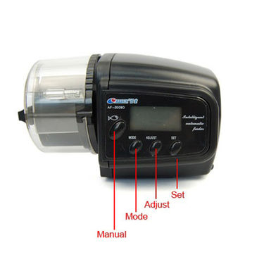 ZINGALALAA Timer Based Automatic Aquarium Fish Feeder LCD Display Battery Operated