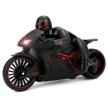 High Speed 2.4 GHz RC Bike with Built in Gyroscope & Bright LED Headlights Red