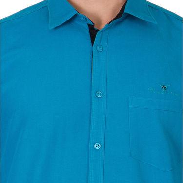 Branded Full Sleeves Cotton Shirt_R12kturq - Blue