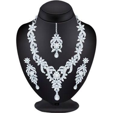 Combo of 5 Sukkhi Austrian Diamond Necklace Sets_265CB3290