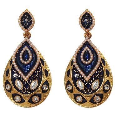 Kriaa Kundan Meenakari Earrings _1303127