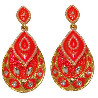 Kriaa Pearl Meenakari Earrings _1303129