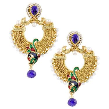 Kriaa Pearl Peacock Earrings _1303709