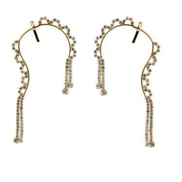 Kriaa Austrian Stone Pair Ear Cuff _1303805