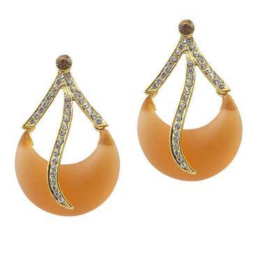 Kriaa Austrian Stone Resin Dangle Finish Earrings _1305701