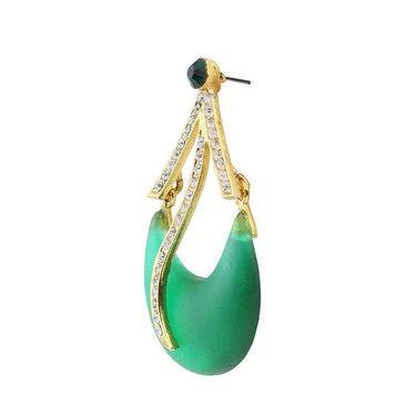 Kriaa Austrian Stone Resin Dangle Finish  Earrings _1305703