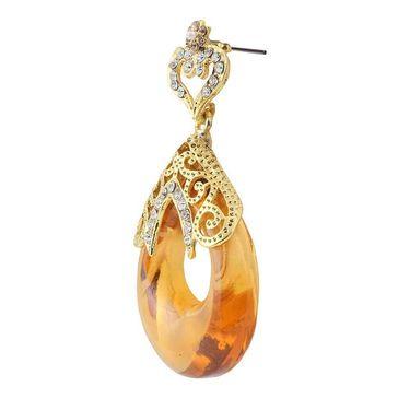 Kriaa Austrian Stone Resin  Drop Finish Earrings _1305714