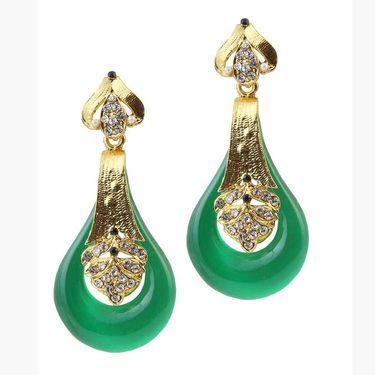 Kriaa Austrian Stone Resin Finish Earrings _1305732