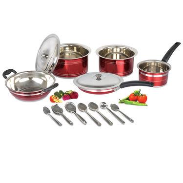 14 Pcs HTR Coated Cookware