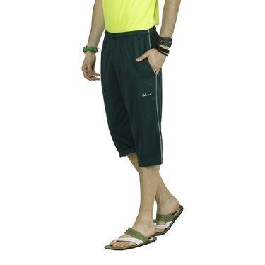 Okane Regular Fit Cotton Capri For Men_cp140 - Green