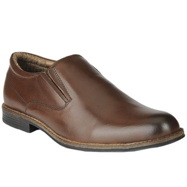 Delize Leather Formal Shoes 1895-Brown